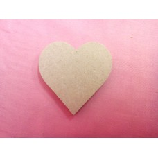 6mm Thick MDF Heart 50mm In size Pack of 25
